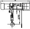 Таль электрическая стационарная ТЭ10 общего назначения грузоподъемностью 10,0т.